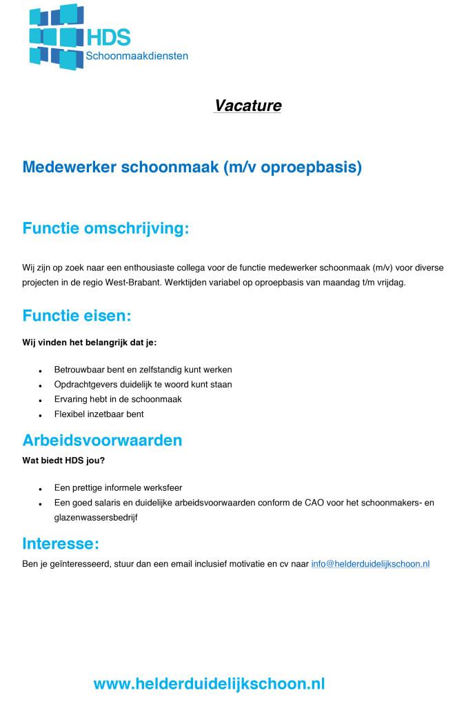 Microsoft Word - vacature oproepkracht schoonmaak.docx